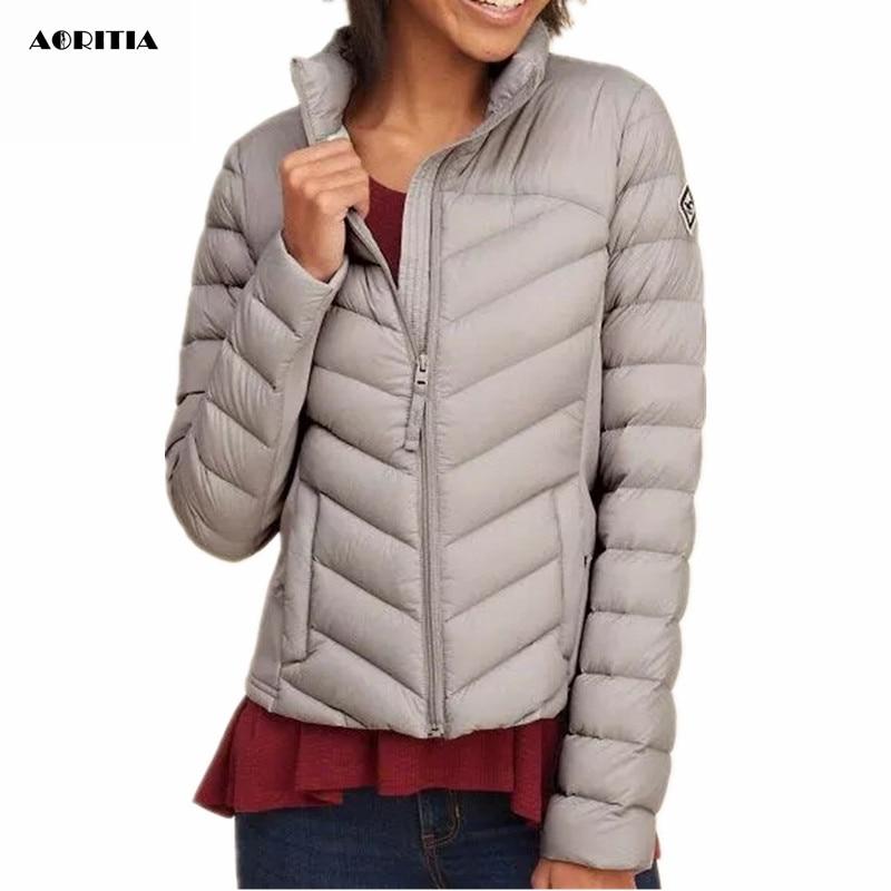 2019 Fashion Short Parka Winter Jacket Women White Goose Down Parkas Coat Thick  Winter Down Coat