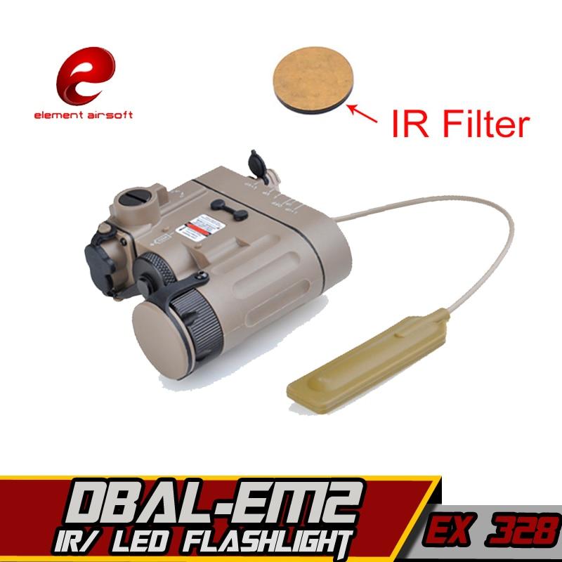 Element Softair Airsoft Gun DBAL EMKII D2 Weapon lazer Light Tactical Wapens Flashlight IR Laser Tatical Military Arms lampe