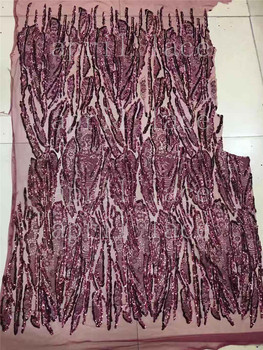 stock xb02#  5 yards wine red floral  african  sexy  embroidery sequin net tulle mesh lace for bridal wedding dress/sawing