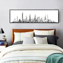 Abstract Sketch City Landscape Handwork Mosaic DIY Round Diamond Painting Modern Style Picture Embroidery Full Diamond Paintings