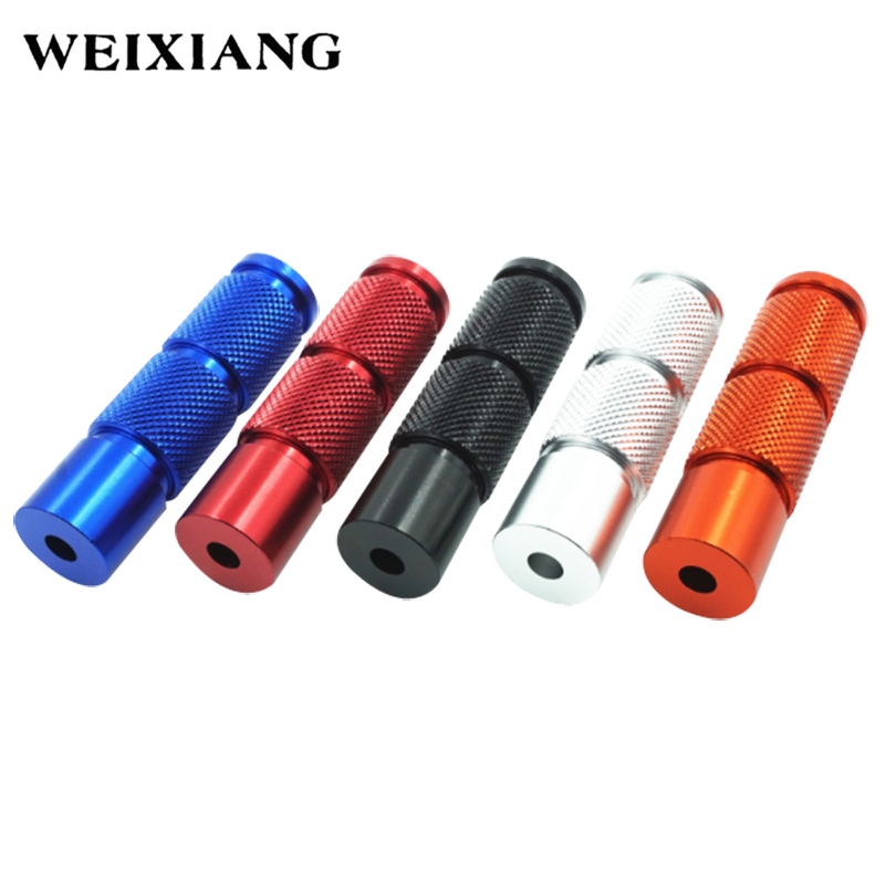 2x Universal CNC Aluminum Alloy Motorcycle Round Foot Pegs Front Rider Footpegs Pedals For Dirt Pit Bike ATV Motorcycles Scooter