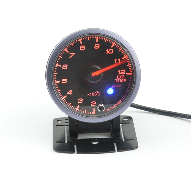 60mm Car Meter Ext Temp Gauge Exhaust Temperature Meter Temperature   Red and White blackLight free shipping