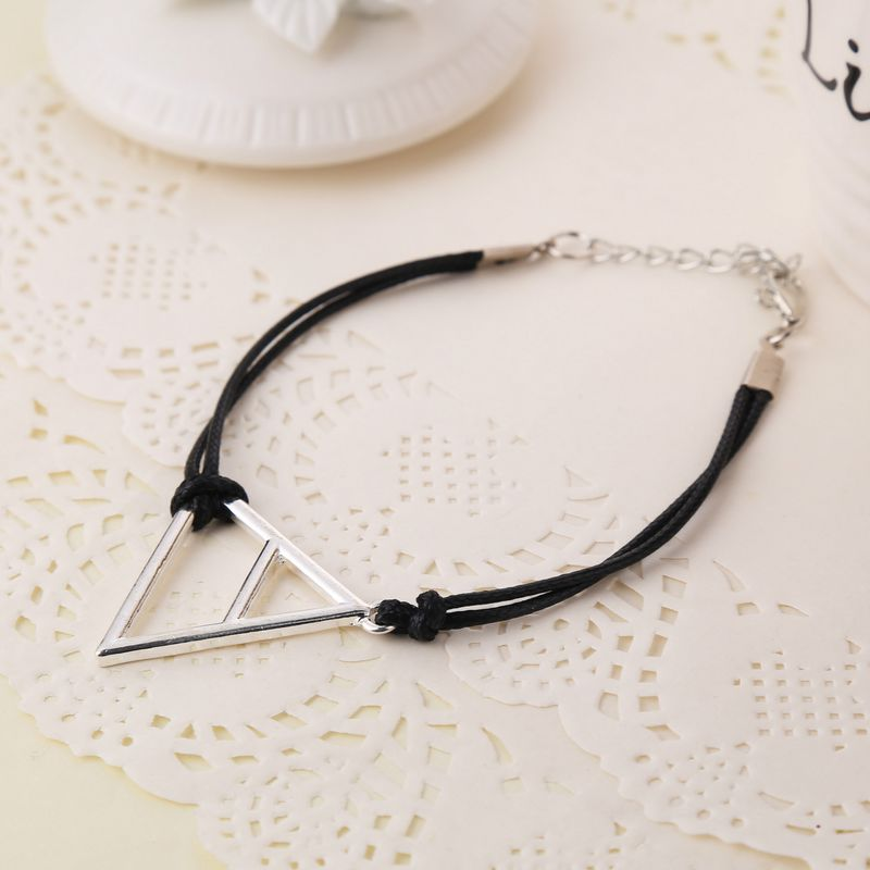 Fashion Jewelry Silver Charm 30 Seconds to Mars Logo Triad Bracelet Top Quality,original factory supply