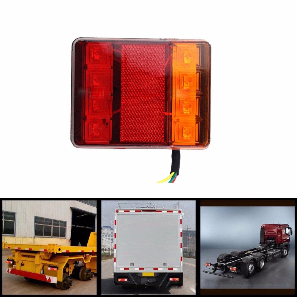 Voiture Camion LED Arrière Feu arrière Feux D'avertissement Feu Arrière Lampes DC 12 v 24 v Étanche Tailight Pièces pour Remorque caravanes