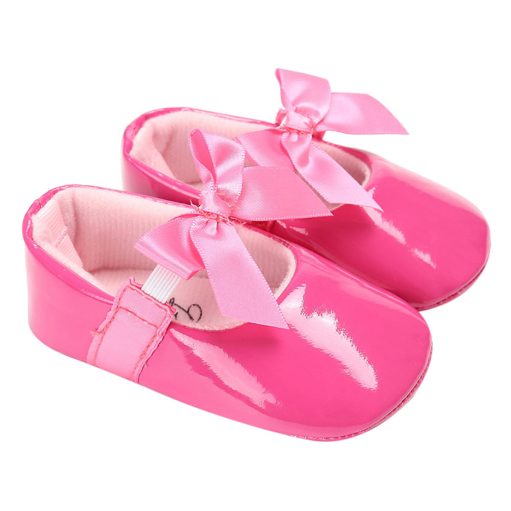 2017 Spring Autumn Bebe PU Leather Baby Boy Girl Baby Moccasins Moccs Shoes Bow Fringe Soft Soled Non-slip Footwear Crib Shoes