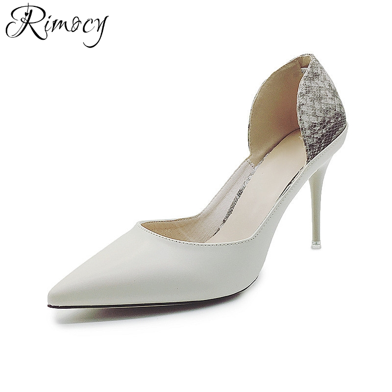 Rimocy sexy gladiator pumps women high fashion thin heels slip on pointed toe shoes woman office work party sandals 2017 summer new fashion woman flats spring summer women shoes top quality strappy women sandals suede pointed toe gladiator ballet pumps