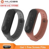Mi jobs mi Band 4 Bracelet coloré en Silicone pour Xiao mi Band 4 3 Bracelet Bracelet mi band 3 accessoires de montre intelligente
