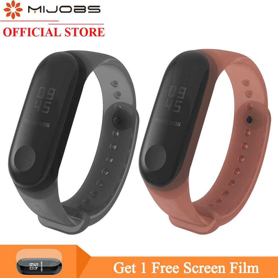 Mijobs Mi Band 4 Strap Colorful Silicone Wrist Strap For Xiaomi Mi Band 4 3 Bracelet Wristband Miband 3 Smart Watch Accessories