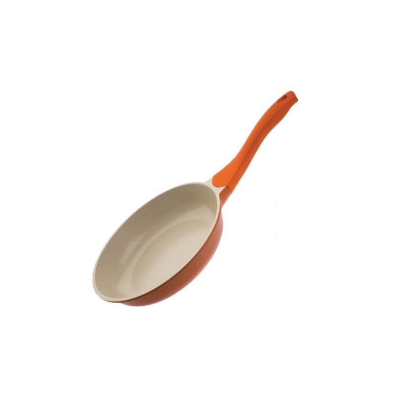Frying pan without lid Biostal Bio-FP-24 orange/beige 24 cm