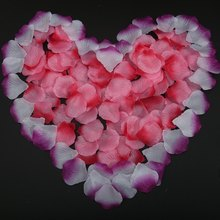 Cheap Hot 100pcs/lor Silk Rose Flower Petals Leaves Wedding Table Hall Blanket Decorations Event Party Holidays Decor Wreaths