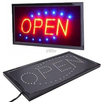 Mouvement animé lumineux courant néon LED magasin d'affaires magasin signe ouvert + commutateur T25 livraison directe