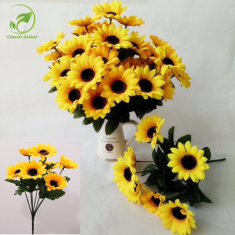 Artificial flowers wedding decorations yellow silk for Artificial flower decoration ideas for ganpati