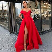5575309af66b Vestito Da Sera lungo 2019 Sexy Alta Della Fessura Con Scollo A V Del  Manicotto Della Protezione di Stile Arabo Dubai Donne di L..