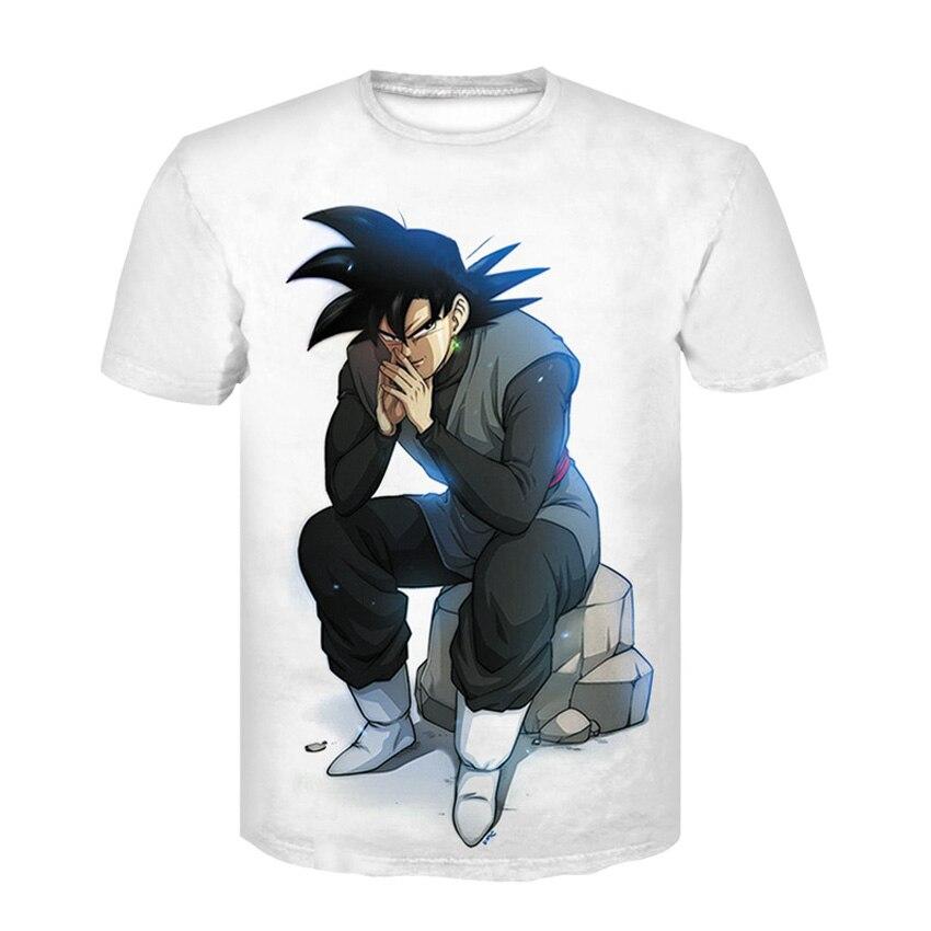 Men T Shirt Funny T-Shirts 3D Printed Dragon Ball Goku calm T shirts Man Tee Streetwear Mens Tops Brand High Quality