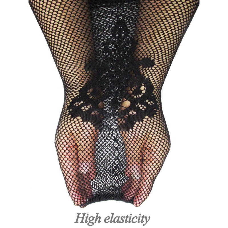 0ad74253e8a Aliexpress.com   Buy Women Sexy Lingerie Stripe Elastic Stockings  Transparent Black Fishnet Stocking Thigh Sheer Tights Embroidery Pantyhose  dropship from ...