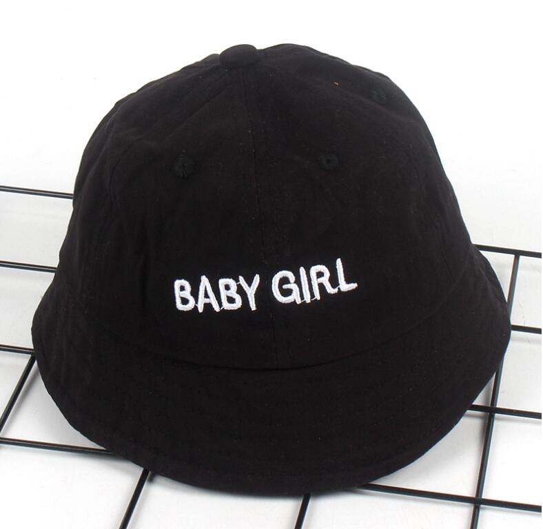Cute BABY GIRL Children Bucket Hat Unisex embroidery kids Bob Caps Hip Hop Gorros boys girls Beach Fishing panana Bucket cap