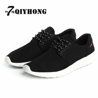 QIYHONG (7 Ye Hong) 2017 Spring Men'S Casual Net Shoes Fashion Soft Bottom Light Men'S Shoes Large Size (Size 38 48)