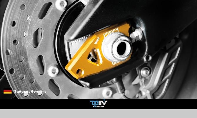 YAMAHA T-MAX 530 DIMOTIV ANODIZED CNC REAR AXLE SLIDER