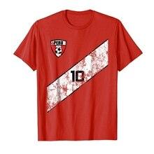 a275ac82d Men 2019 New Short Sleeve Cotton Print Men S T-Shirt Peru Soccers Jersey Shirt  Peruvian