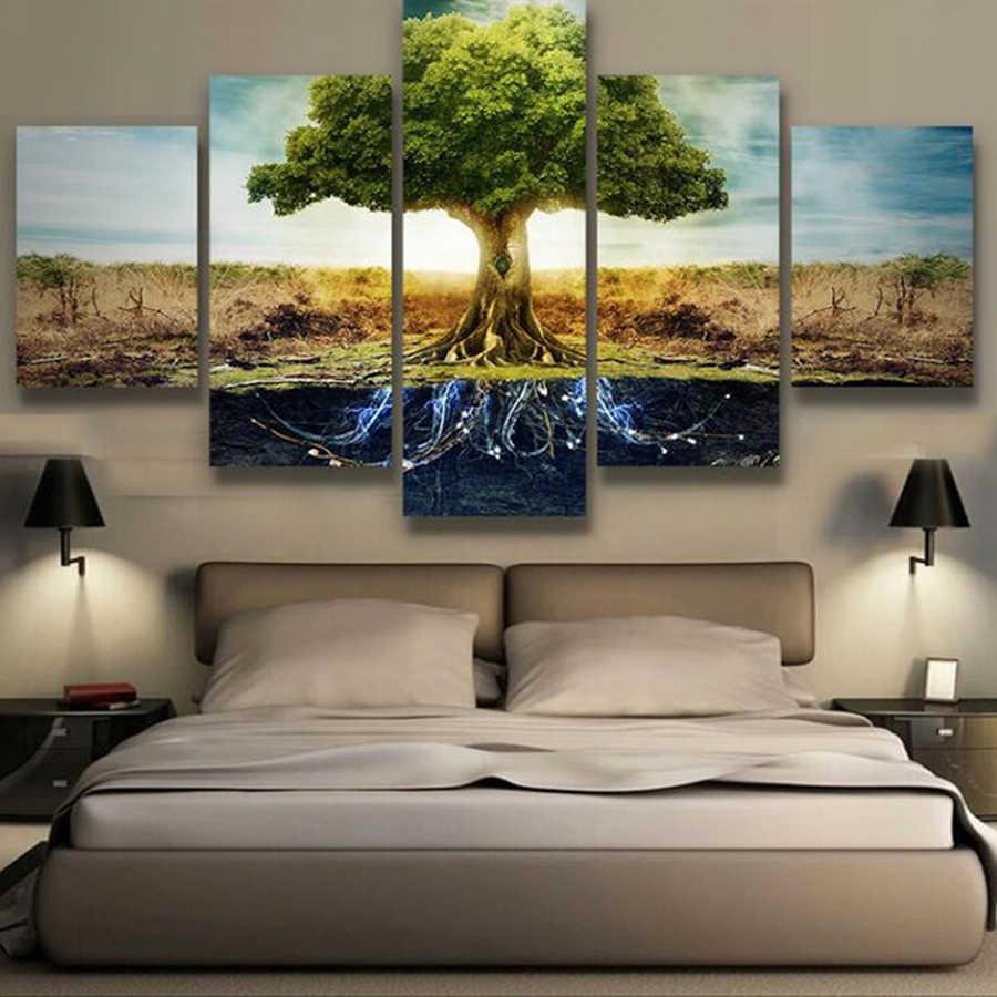 """DIY 5 шт. """"абстрактное Древо жизни"""" декоративная алмазная живопись домашний декор, 5d алмазная вышивка Настенная картина гостиная мозаика стиль"""