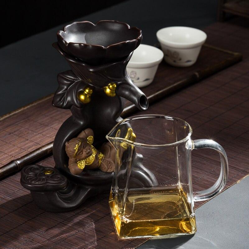 Style chinois violet argile thé crépines Teaware accessoires en céramique Art filtre verre juste tasse décoration de la maison ornement artisanat