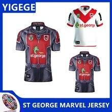 6c3ca4815da YIGEGE ST GEORGE ILLAWARRA DRAGONS 2017 MARVEL JERSEY nrl Jersey 2019 ST  GEORGE ILLAWARRA DRAGONS HOME rugby Jerseys size S-3XL