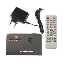 HD 1080 P Avec VGA/Sans VGA Version DVB-T2 TV Box AV CVBS Tuner Récepteur avec Télécommande Compatible Avec Le CRT et LCD