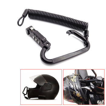 Universal  For Motorcycle Helmet Lock Combination Lock with T-Bar Rubber Safe