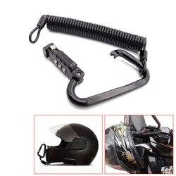 Uniwersalny do motocykla kask blokada zamek szyfrowy z t-bar Rubber Safe