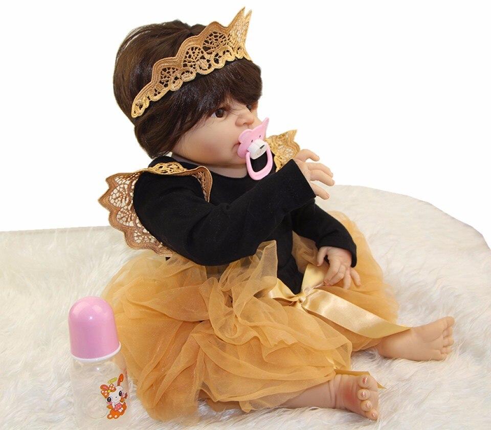 Hot Sale Full Silicone Vinyl Body Reborn-Boneca So Truly Princess 23 inch Baby Girl Babies Dolls Lifelike Kids Birthday Gifts