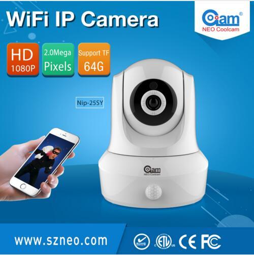 2MP поворотник Wi-Fi P2P Авто motion слежения наблюдения IP Камера построен в пир motion детектор