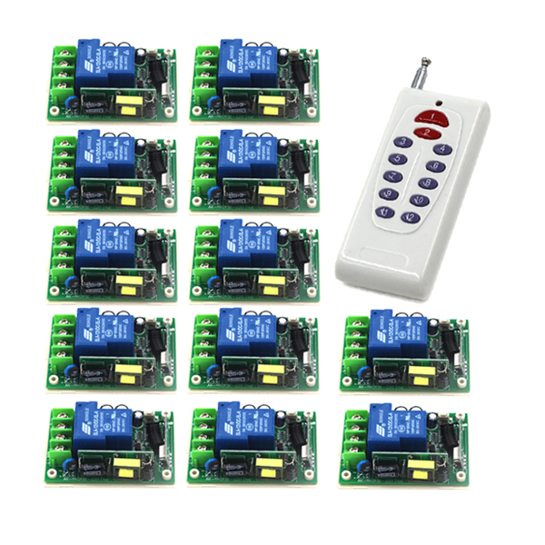 AC 85V-250V 110V 30A Learning Code Wireless Remote Control Switch System 315MHz Frequency for applicance garage door SKU: 5495