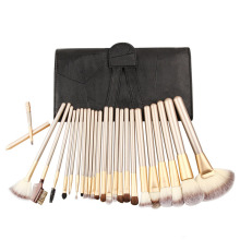 RANCAI 24pcs champagne color black and white bag makeup brush professional set tools
