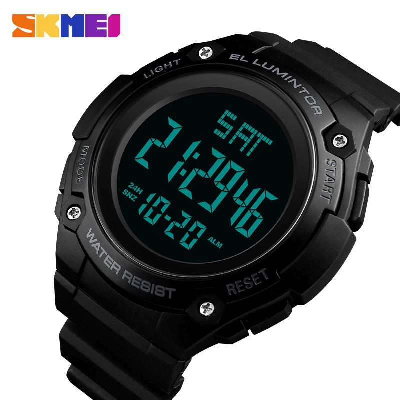 In Strong-Willed Sfmei Digital Mens Watches Fashion Outdoor Sports Electronic Led Clock Male Waterproof Casual Military Men Wrist Watch Novel Design;