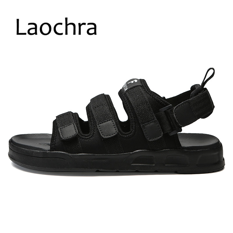 LAOCHRA Mens ultralight sandal Trending Summer Style Hook&Loop Man gladiator sandals Outdoor Youth footwear Men Canvas Sandals