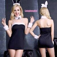 Хит продаж 2016 г. эротические Для женщин пижамы сексуальное женское белье прекрасный кролик наряд сексуальное платье сна плюс Размеры ночь н...