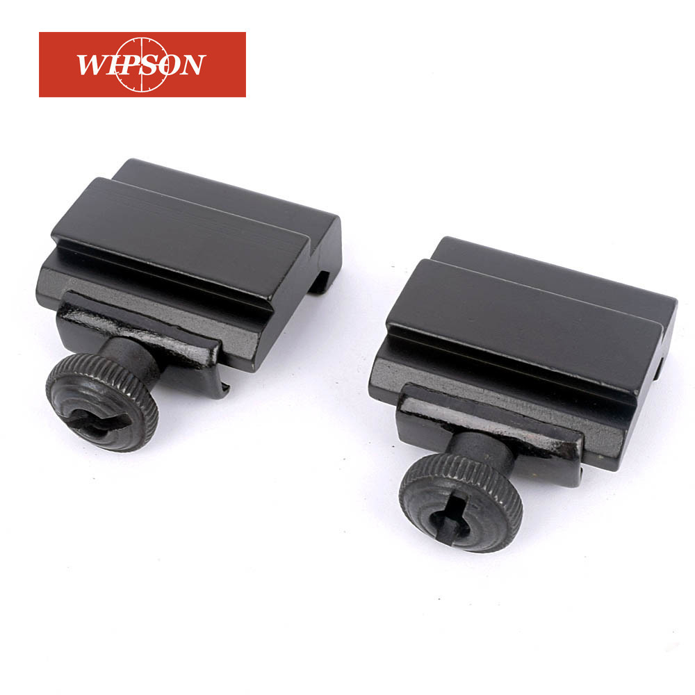 WIPSON 1 Pair Flat Top 20mm To 11mm Weaver Picatinny To Dovetail Rail Adapter Base Mount Long 30mm Rail Pistol Airsoft Hunting