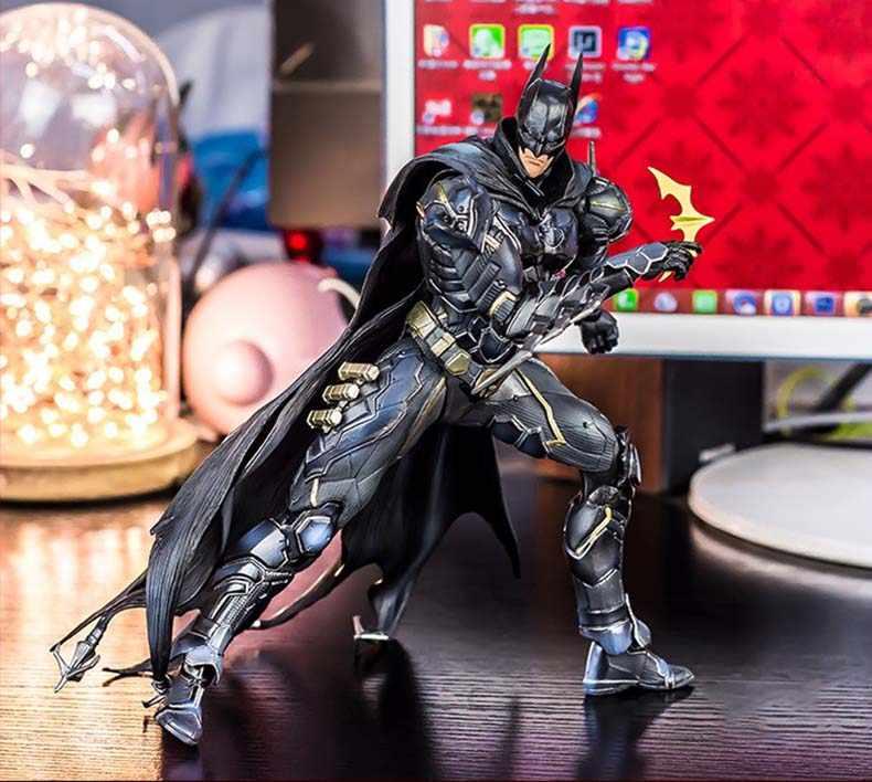 DC комиксы супергерой фильм Бэтмен красный ограниченная версия экшн фигурка PlayArts Kai фигурка дети горячие игрушки 27 см Модель игры Искусство juguetes