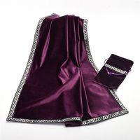 Altar Tarot Cards Bag Party Table Cloth Tablecloth Divination Wicca Velvet Tapestry Vintage Retro Black Purple
