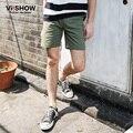 VIISHOW Высокое качество masculina де marca Шорты мужчин пляж Armygreen Случайные Короткие Брюки мужские Короткие шорты Бренд Одежды