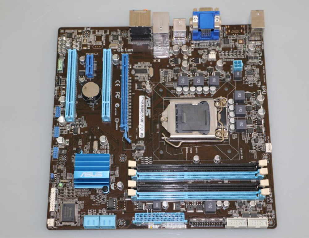 original ASUS motherboard for P7H55-M/BM5275/DP-MB LGA 1156 DDR3 VGA DVI USB2.0 16GB boards h55 desktop motherboard материнская плата asus h81m r c si h81 socket 1150 2xddr3 2xsata3 1xpci e16x 2xusb3 0 d sub dvi vga glan matx