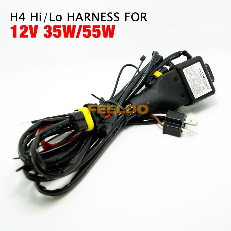5Pcs 12V 35W/55W 2IN1 H4/HB2/9003 Hi/Lo Bi-xenon Relay Harness For HID #FD-4305 хай хэт и контроллер для электронной ударной установки roland fd 9 hi hat controller pedal