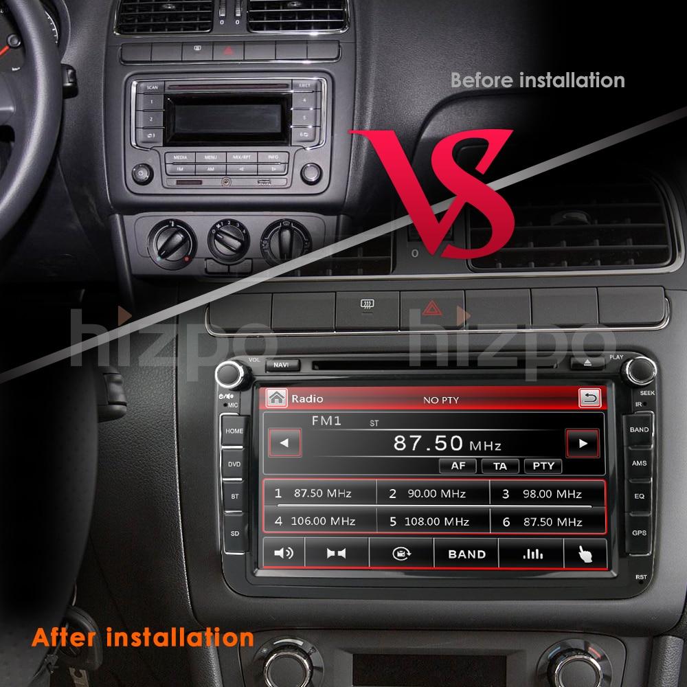 Flash Deal 2Din 8Inch Car DVD Player For VW POLO PASSAT Golf Skoda Octavia SEAT LEON DAB SWC Radio GPS Navigation 1080P FM Free Camera Maps 8