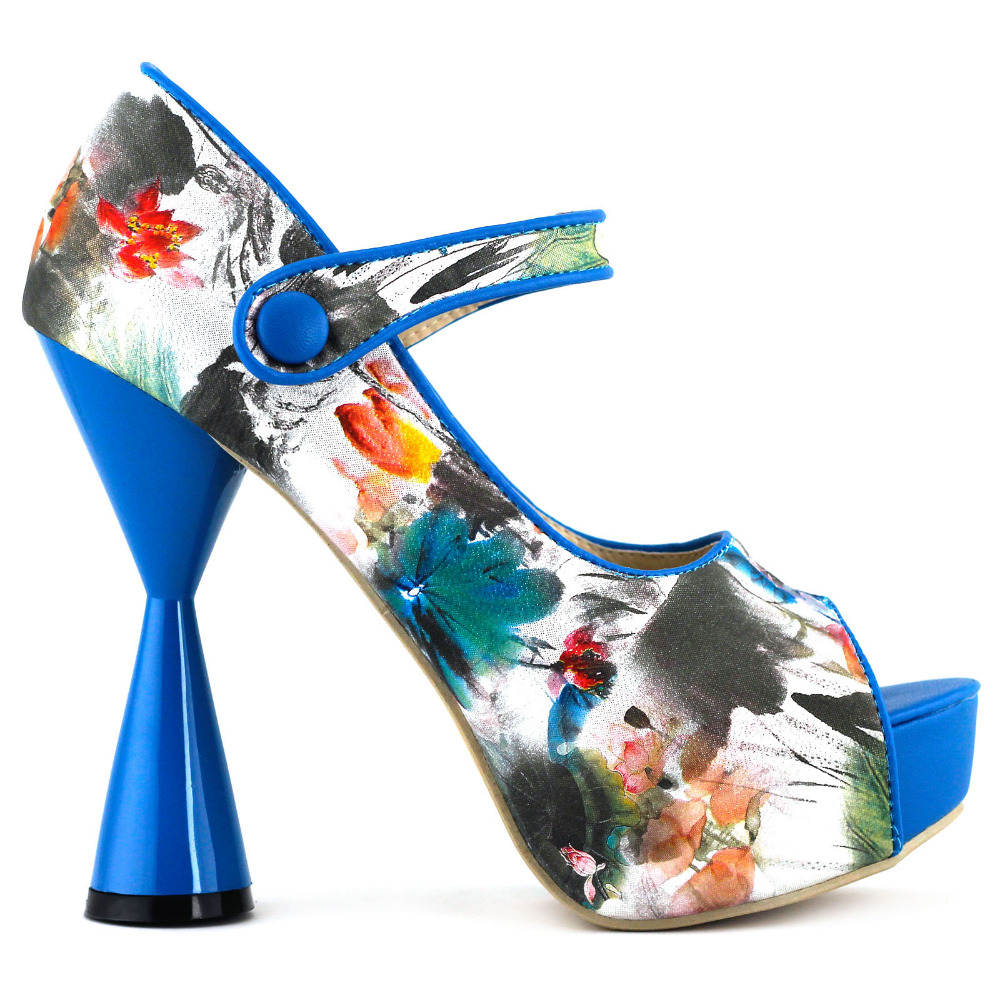 Popular Blue Floral Heels-Buy Cheap Blue Floral Heels lots from
