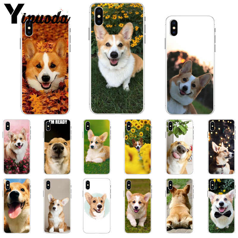 11pro MAX mejor amigo animal corgi funda inteligente carcasa blanda para teléfono Apple iPhone 8 7 6 6S plus X XS X MAX 5 5S SE XR