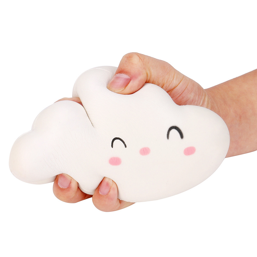 Toy for Antistress Cute Smile Cloud Cream Scented Slow Rising Squishy Stress Relieve Gift Squeeze Toys Oyuncak #Y118 fun autism toys hamster squishy decor slow rising kid toy squeeze relieve anxiet gift toys for children pu simulation hamster
