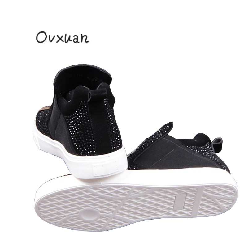 Feuille Ovxuan Loup Mocassins Hommes Tête Mode Strass Métal Sur Chaussures Embroideried Main La Noir Occasionnel Cheville Glissement À Appartements rx1rgqzwO