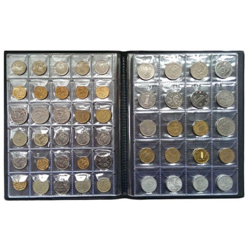 250 peças de armazenamento de moedas livro comemorativo coleção de moedas álbum suportes coleção volume pasta segurar multi-cor vazio moeda