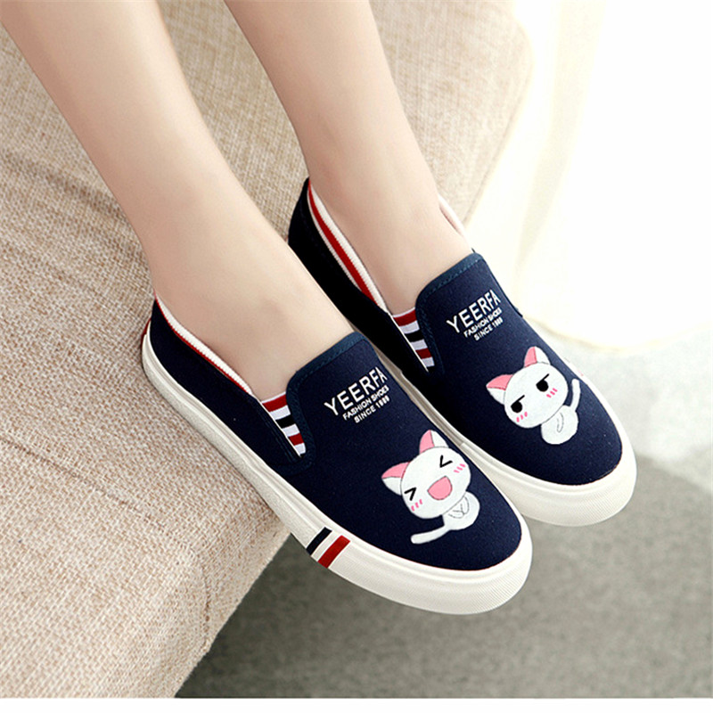 Autumn Women Fashion Summer Low Flat Hand Painted Canvas Shoes Female Casual Pedal Shoes Lazy Girl Superstar Zapatos Mujer game of thrones casual shoes women house stark winter is coming printed summer style superstar graffiti canvas shoes big size