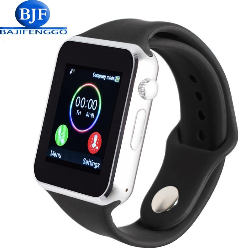 imágenes para Envío libre reloj del bluetooth de smart watch deporte podómetro con sim cámara de la tarjeta sd para android smartphone correa de silicona t2